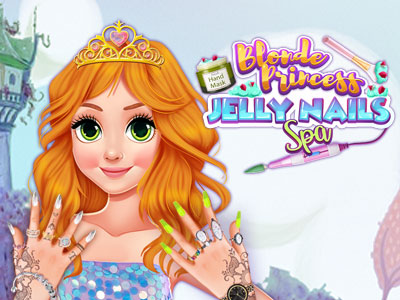 Blonde Princess Jelly Nails Spa