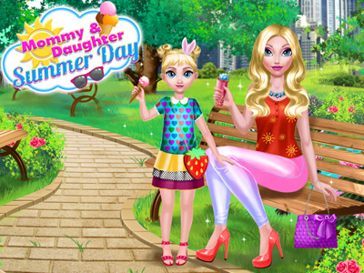Mommy And Daughter Summer Day