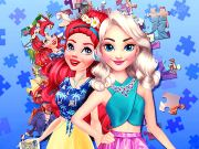 Princesses Puzzle Portrait